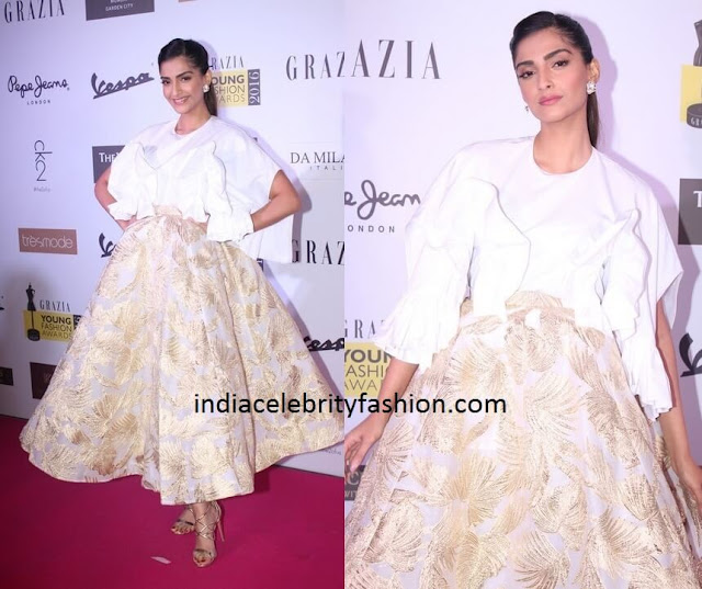 Sonam Kapoor in Delpozo at GYFA 2016