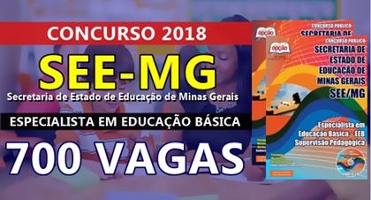 Concurso SEE-MG 2018 Especialista em Educação Básica - EEB