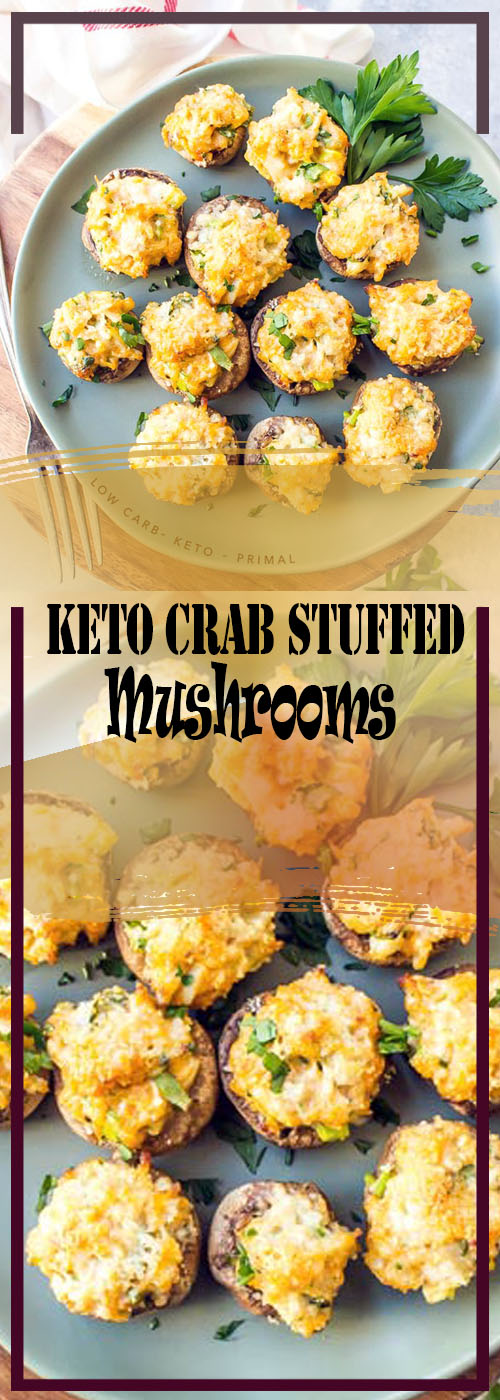 Keto Crab Stuffed Mushrooms Recipe