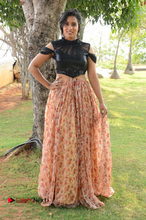 Actress Chetana Uttej Stills in Floral Long Skirt at Pichiga Nachav Movie Press Meet  0096.JPG