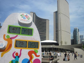 Pan Am Games Countdown Clock. Only 47 days to go.