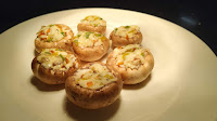 Filled mushrooms for Tandoori Stuffed mushroom Recipe