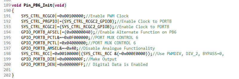 Microcontrollers Work: TM4C123GH6PM based PWM Implementation