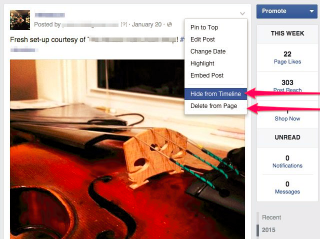 how do you unhide a post on facebook timeline