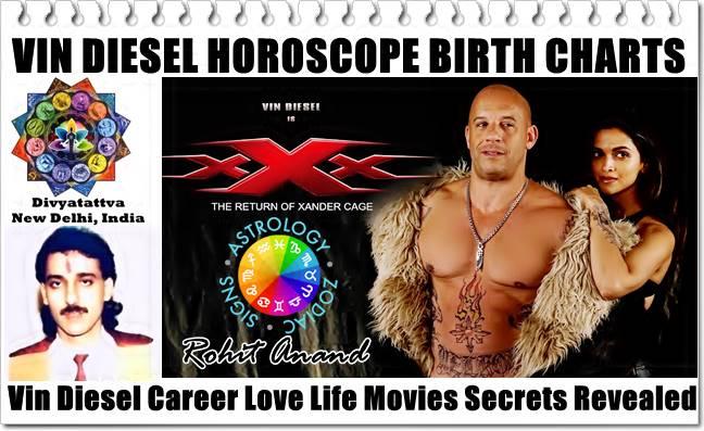 Vin Diesel Horoscope, Vin Disesel Birth Charts, Vin Diesel Zodiac Sign, Vin Diesel Astrology, Vin Diesel Birth Charts