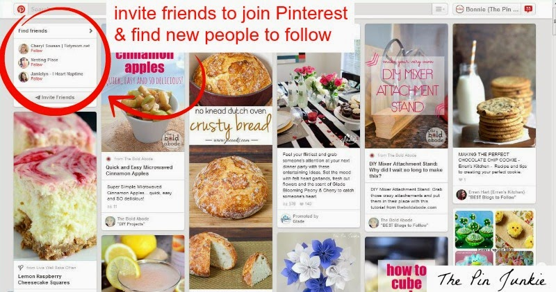 find friends and new pinners to follow on Pinterest