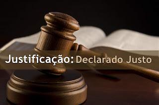 Justificação: Declarado Justo