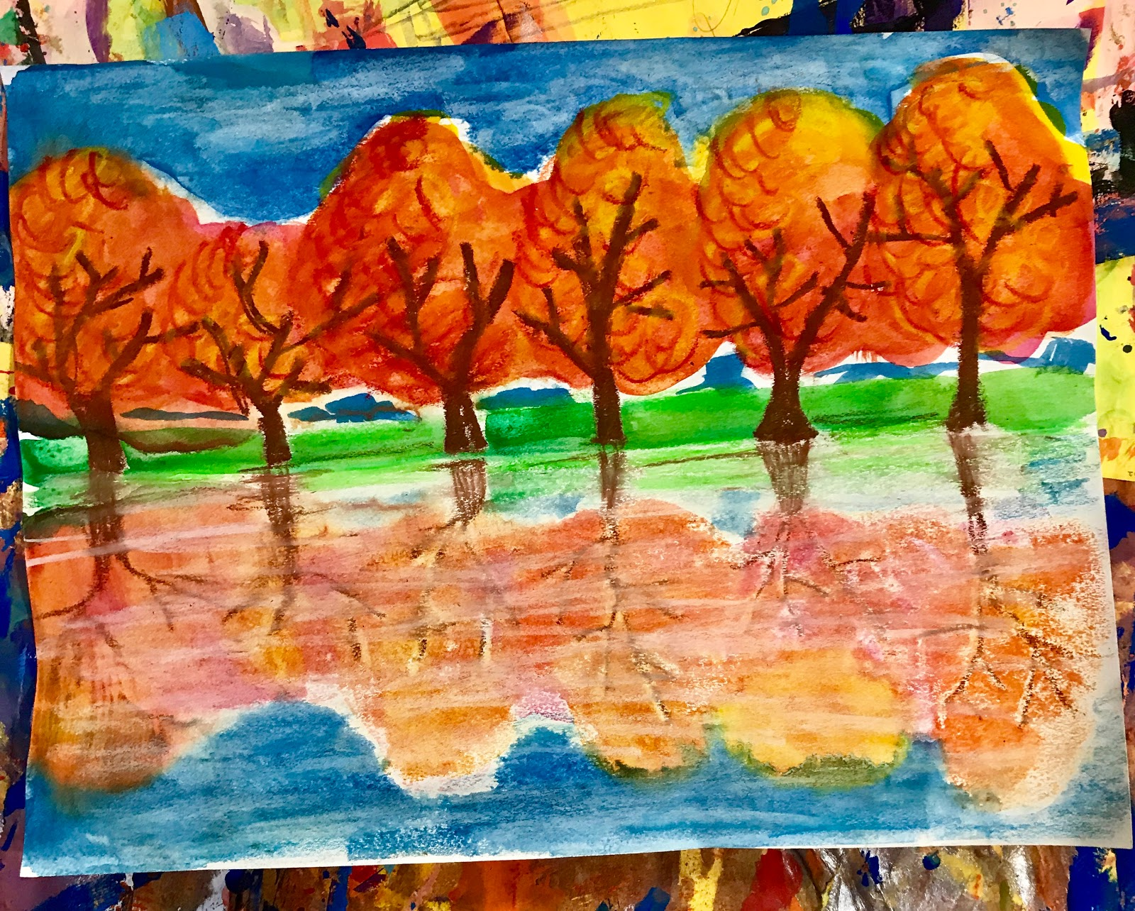 Elements Of Art Painting : Elements of the art room: 2nd grade fall reflections