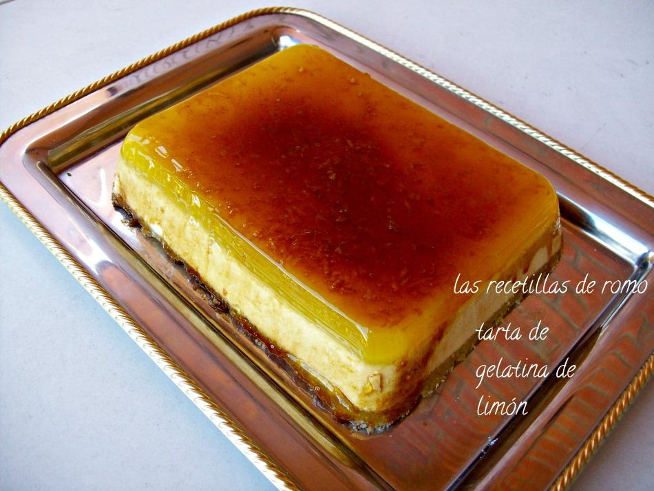 """tarta de gelatina de limon"""