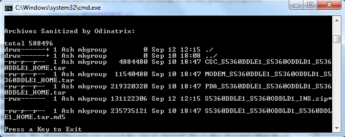How to use Odinatrix to split one package firmware into multiple tar