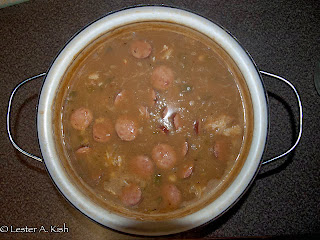 A pot of seafood gumbo