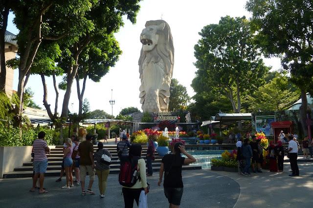 Merlion symbol Singapuru