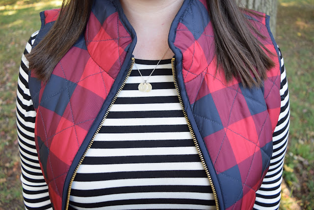 Sequins and Skulls: Buffalo Plaid Quilted Vest
