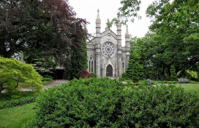 The Chapel at Mount Auburn Cemetery in Cambridge, Massachusetts