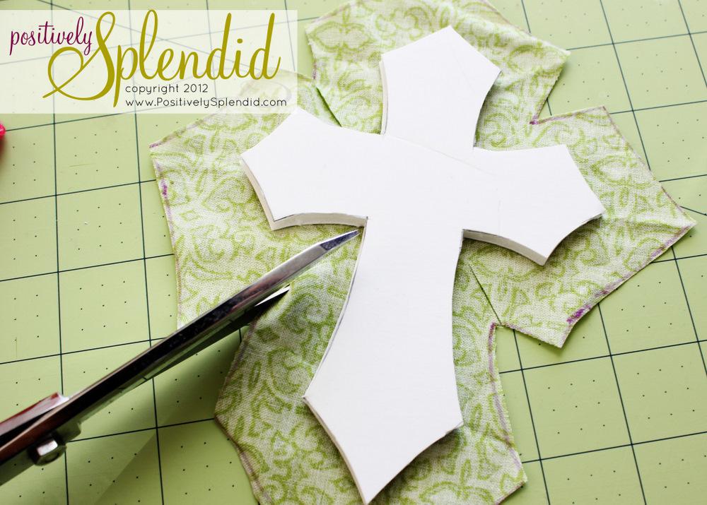 Framed Dimensional Easter Cross Tutorial Positively Splendid