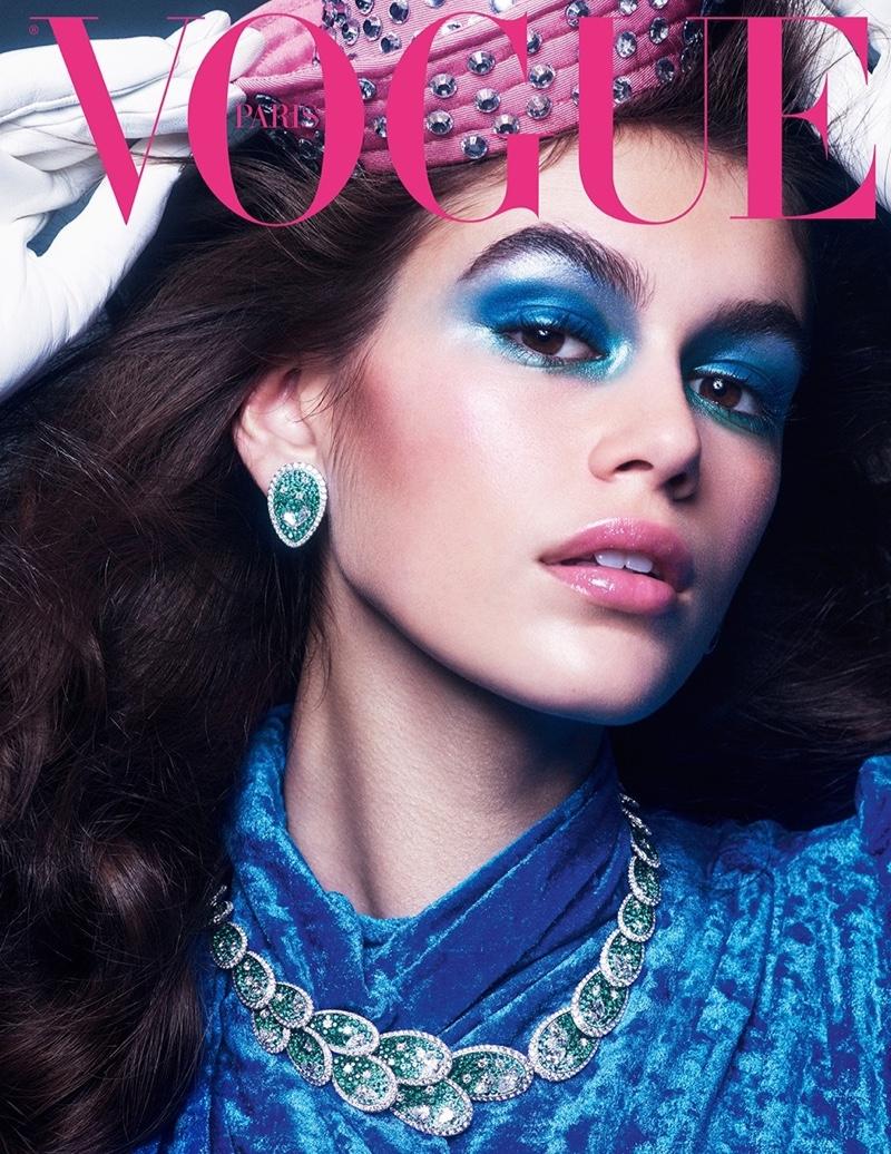 Kaia Gerber Vogue Paris October 2018 jewellery covers - fashion blog