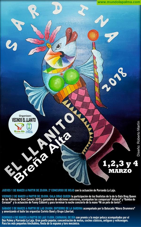 El Llanito de Breña Alta se prepara para un animado 'Entierro de La Sardina'