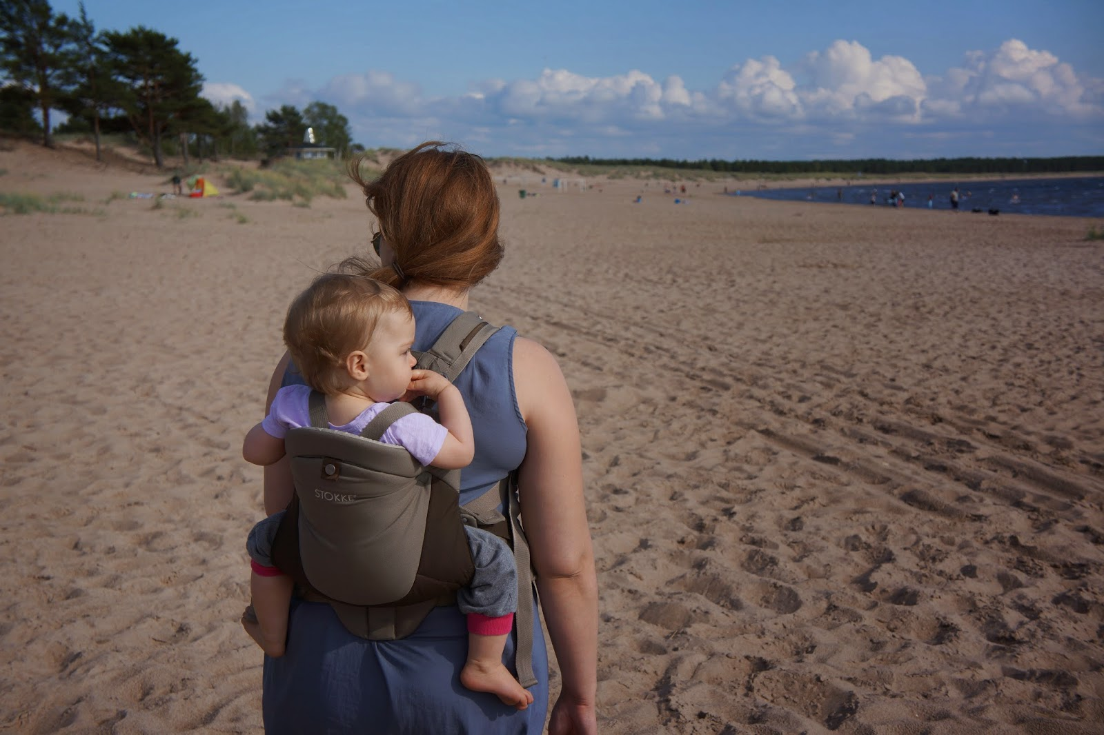 stokke mycarrier on a beach