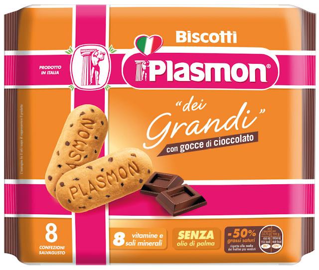 plasmon il biscotto dei grandi cinque gocce di cioccolato
