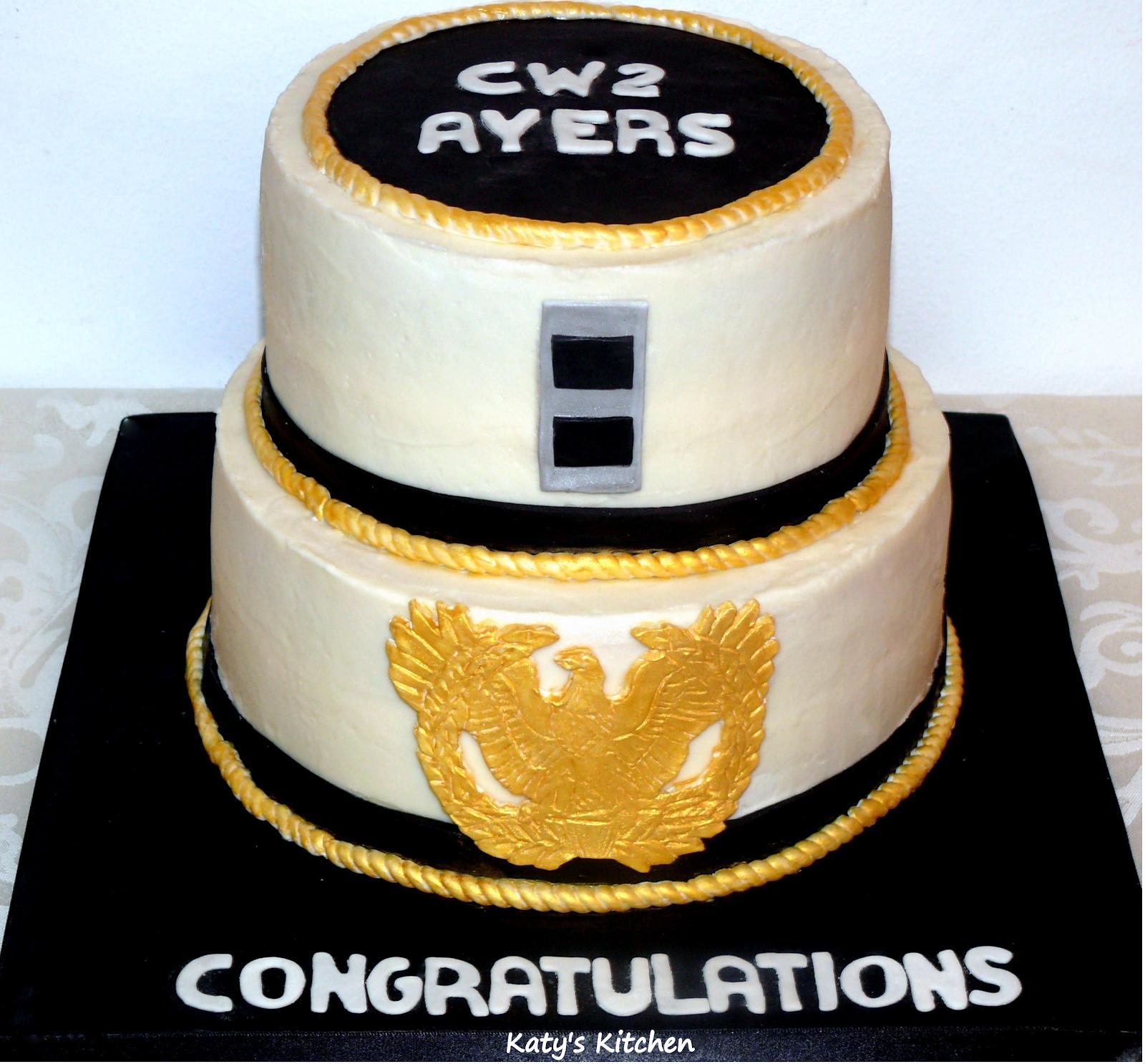 Katys Kitchen Military Rank Promotion Cake