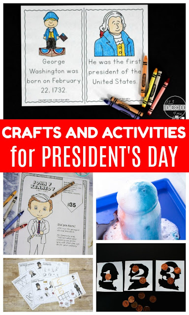 20 Presidents Day Activities - so many fun crafts, activities, free printables and worksheets for preschool, kindergarten, first grade, 2nd grade and 3rd grade kids to learn about our US Presidents #presidentsday #education #kindergaten #kindergartenworksheetsandgames