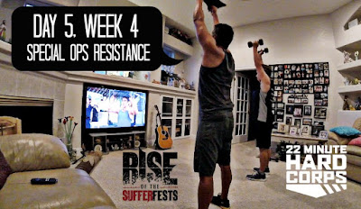 Day 5 Week Four 22 Minute Hard Corps Challenge, 22 Minute Hard Corps Special Ops Resistance Workout, Asheville Spartan Super 2016, Rise of the Sufferfests Screening, Scott Keneally, Suffer Club
