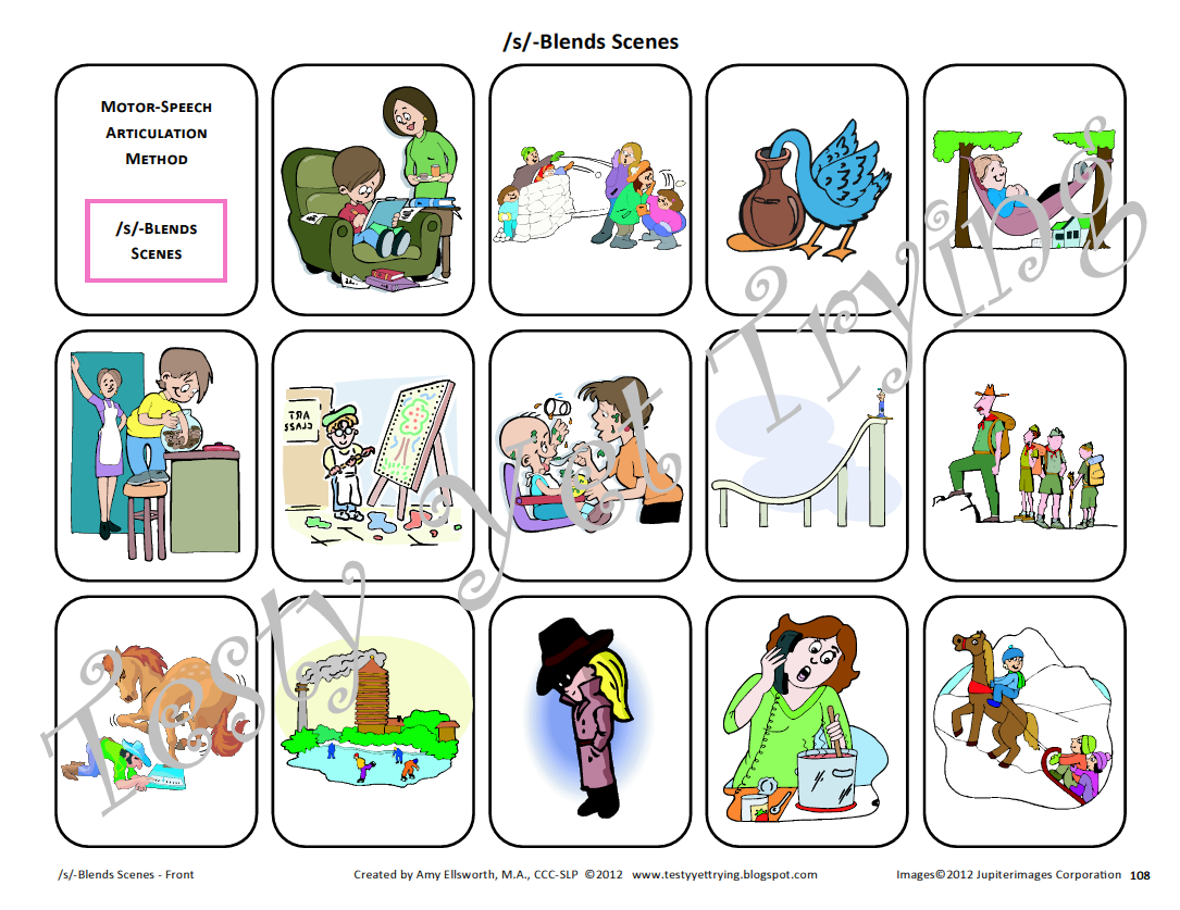 Testy Yet Trying Speech Therapy Kit S Blends Card Sets And Resources