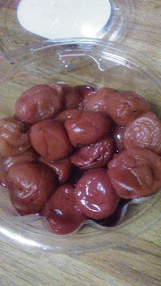 fermented plums, exotic food