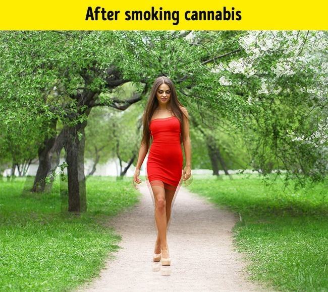 Known as Marijuana, and its also partially affects the sight, which is somewhat similar to that person who drunk.