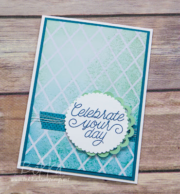 Celebrate Your Day Card Featuring the Irresistibly Floral Papers from Stampin' Up! UK But No Flowers!  Get yours here