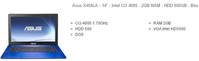 laptop asus 14 inchi core i3