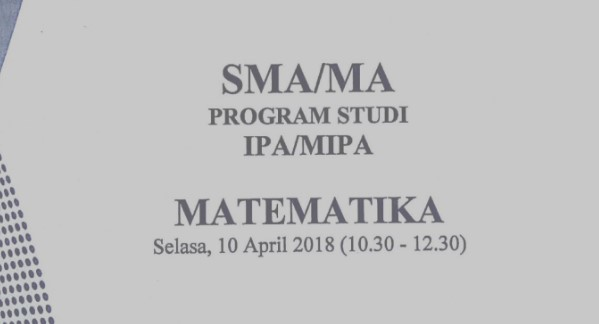 Download Soal UN Matematika IPA dan IPS 2018