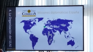 Mapa de las misiones diplomáticas de España