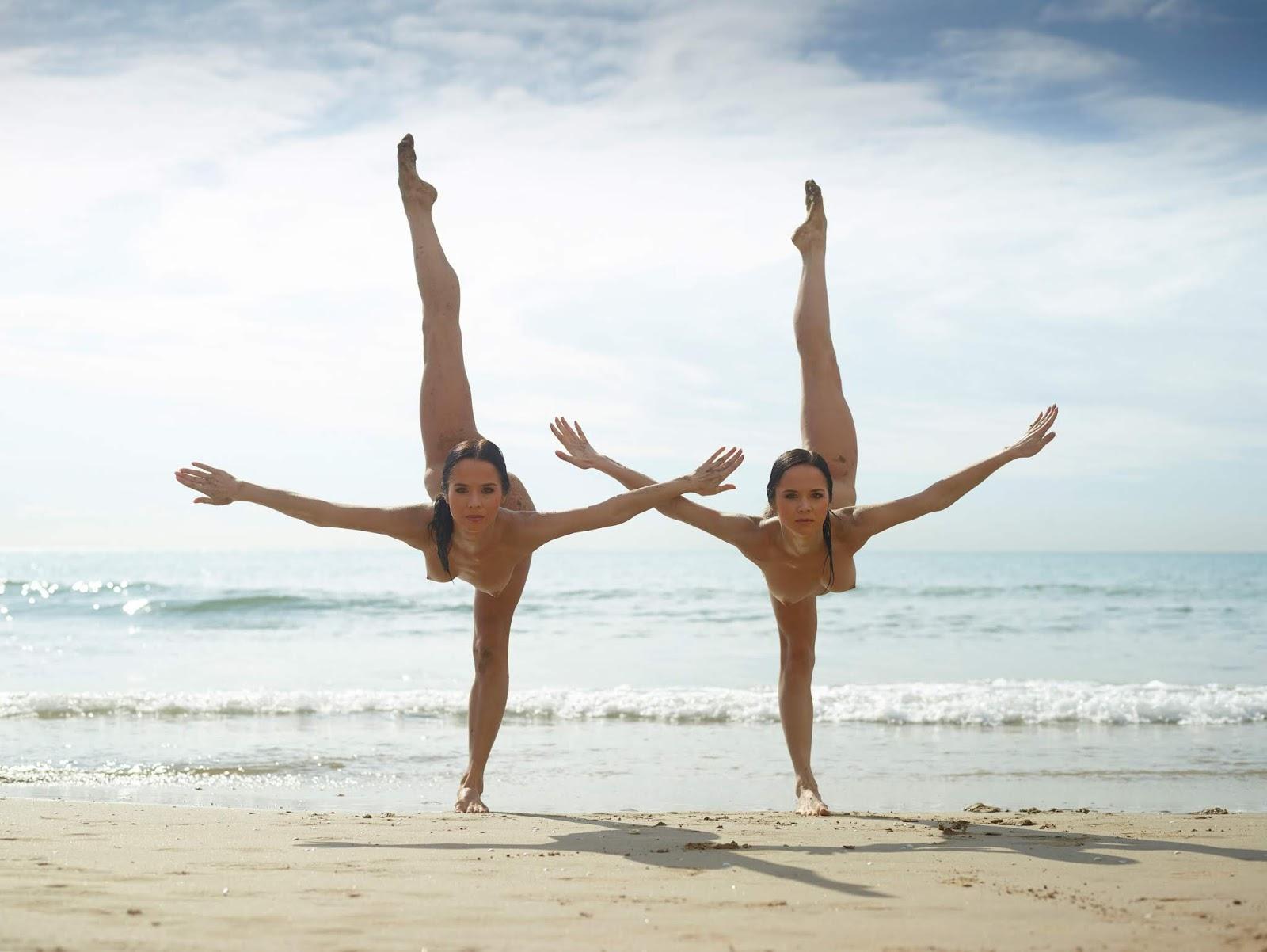 Гимнастки голая на пляже пятёрку