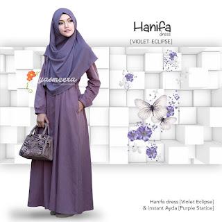 Gamis Yasmeera Hanifa Dress Violet Eclipse