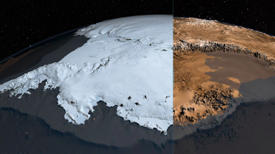 Ancient Maps covering Antarctica