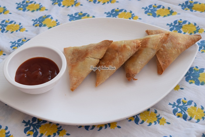 Baked Mixed Vegetable Samosa - Magic of Indian Rasoi- Priya R