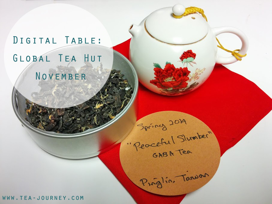 This series was created because the message from Global Tea Hut touched me. This months Digital Table brings us a Spring 2014 GABA Tea called Peaceful slumber from Taiwan.