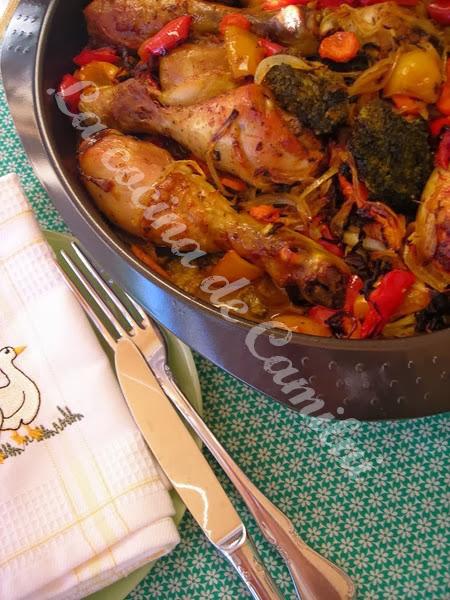 Pollo al curry con verduras (La cocina de Camilni)