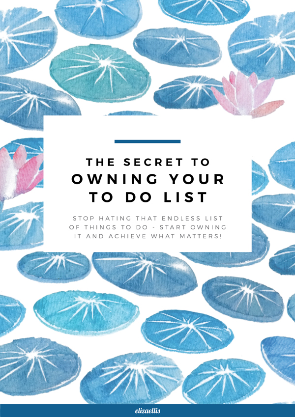 The Secret to Owning Your To Do List // by Eliza Ellis. Stop hating that endless list of things to do - start owning it and achieve the things that matter to you! An in-depth and helpful article on time management, prioritization and organizing for mums, business owners, bloggers, and everyone in between!