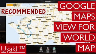 Google Maps View For World Map