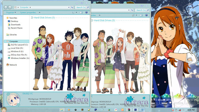AnoHana Theme Win 7 by Enji Riz Lazuardi