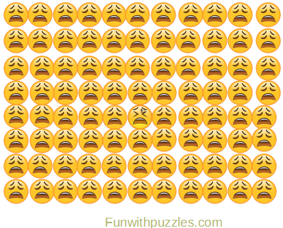 Odd One Out Picture Puzzle Emoji Crying