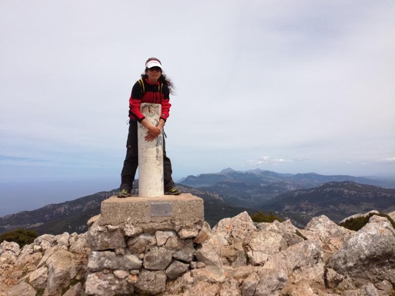 In cima al Puig de Galatzó - Mallorca