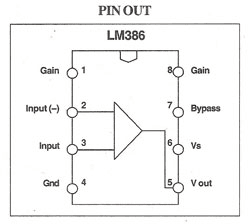 Audio amplifier circuit using IC LM386 ~ Electronics