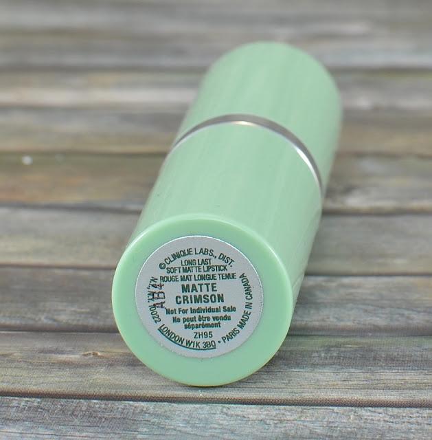Clinique long last soft matte lipstick matte crimson