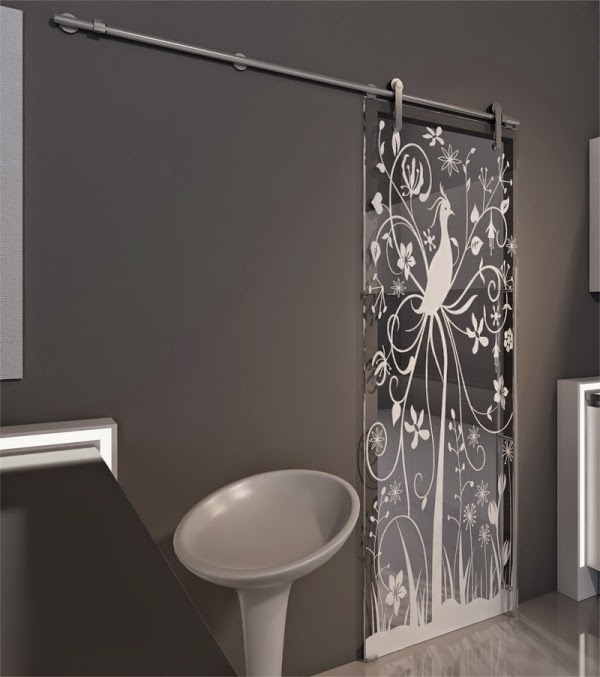 Modern Glass Sliding Doors Ideas In Black Color