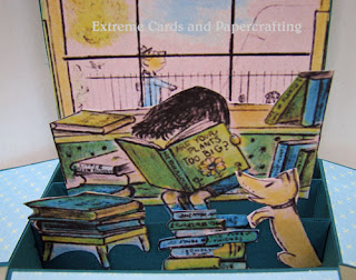 illustration detail, boy reading book