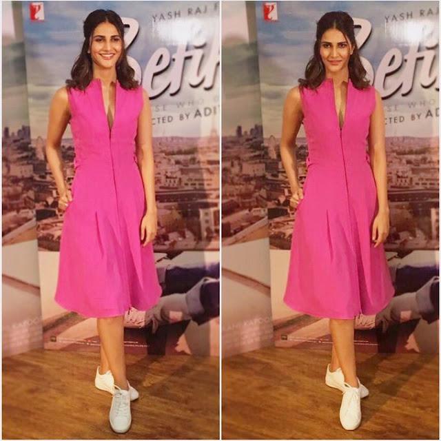 Vaani Kapoor in beautiful Pink for Befikre Promotion