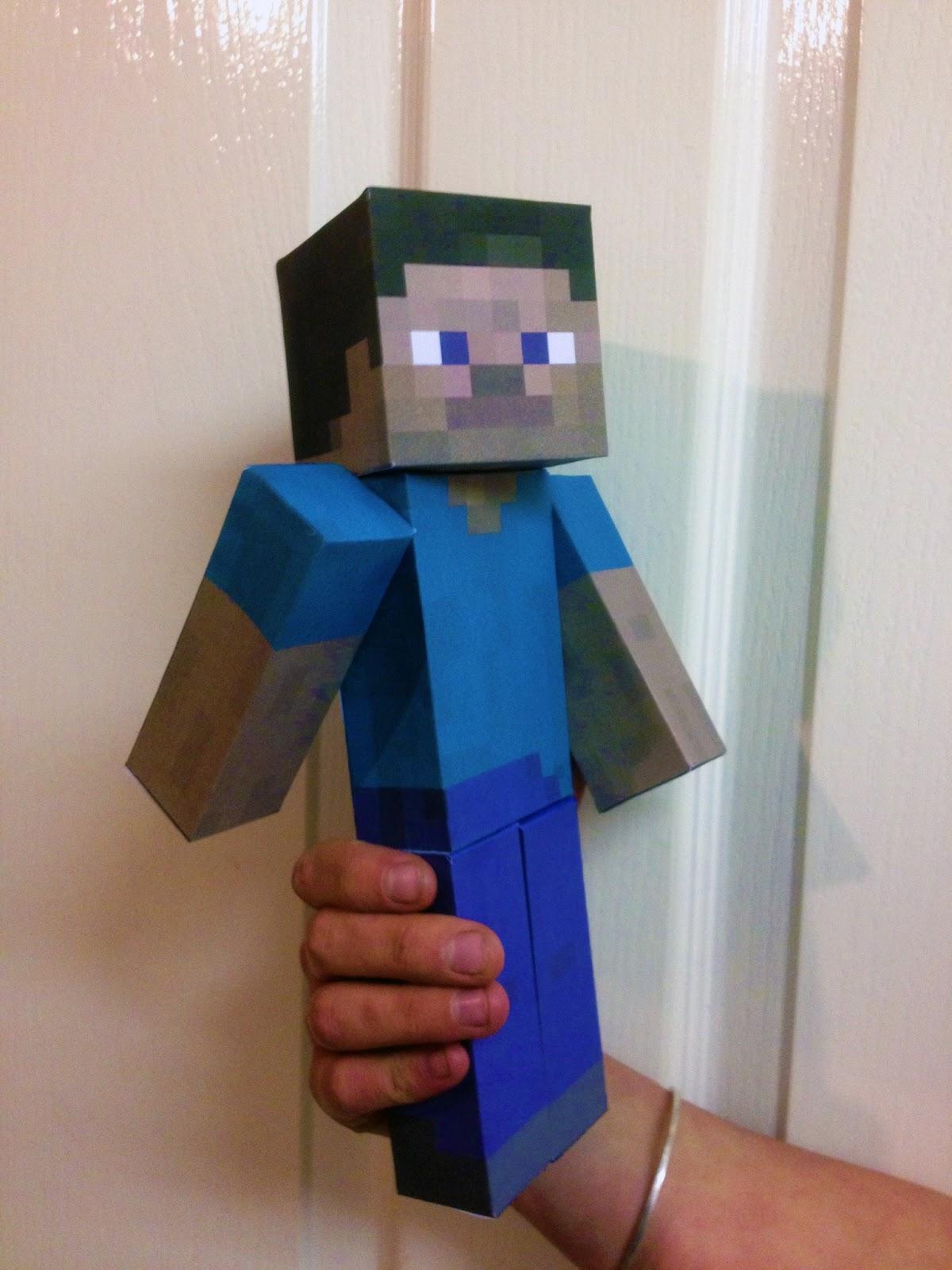 Eu Amo Artesanato  Boneco Minecraft Com Molde